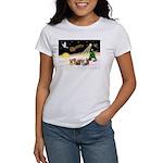 Night Flight/5 Yorkies Women's T-Shirt