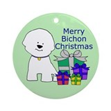 Bichon and Gifts Christmas Ornament