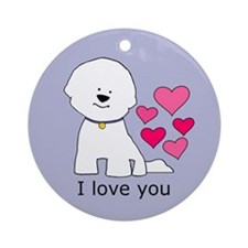 Bichon I Love You Ornament