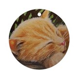 Ginger Tabby Cat Ornament (Round)