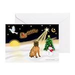Night Flight/Shar Pei #3 Greeting Card