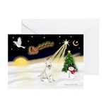 Night Flight/Bull Ter #4 Greeting Cards (Pk of 20)
