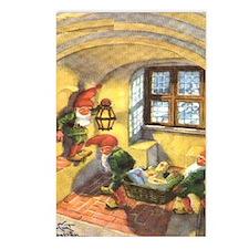 Funny Glaedelig jul Postcards (Package of 8)