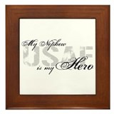 Nephew is my Hero USAF Framed Tile