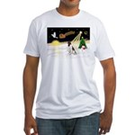 Night Flight/Eng Springer Fitted T-Shirt