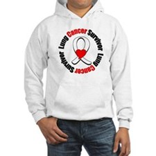 Lung Cancer Survivor Heart Hoodie