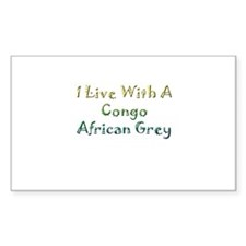 Congo African Grey Rectangle Sticker 50 pk)