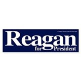 Reagan for President Bumper Car Sticker