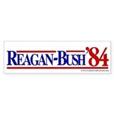 Reagan Bush 1984 Bumper Car Sticker