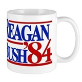 Reagan Bush 1984 Coffee Mug