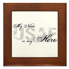 Niece is my Hero USAF Framed Tile