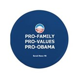 "Obama Family Values 3.5"" Button"