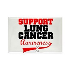 SupportLungCancerAwareness Rectangle Magnet (10 pa