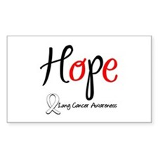 Hope Lung Cancer Rectangle Sticker 10 pk)