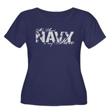 Aunt is my Hero NAVY Women's Plus Size Scoop Neck