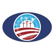Christians for Obama Oval Decal