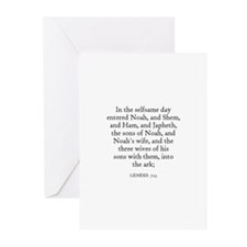 GENESIS  7:13 Greeting Cards (Pk of 10)