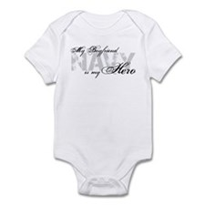 Boyfriend is my Hero NAVY Infant Bodysuit