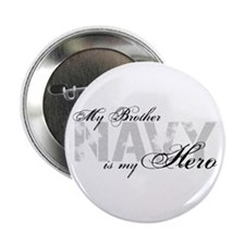 "Brother is my Hero NAVY 2.25"" Button"