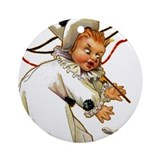 Halloween Clown Tile Ornament / Necklace Pendant