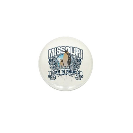 Save the Penguins Missouri Mini Button