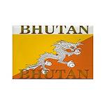 Bhutan Flag Rectangle Magnet (10 pack)