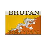 Bhutan Flag Rectangle Magnet