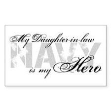 Daughter-in-law is my Hero NAVY Decal