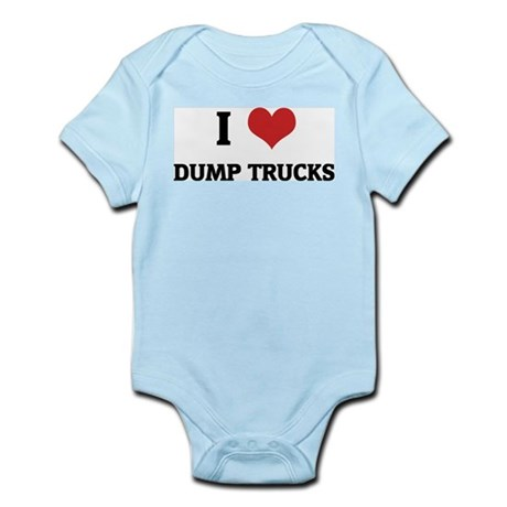 I Love Dump Trucks Infant Creeper