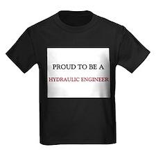 Proud to be a Hydraulic Engineer Kids Dark T-Shirt