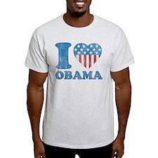 Vintage i Love Obama T-Shirt