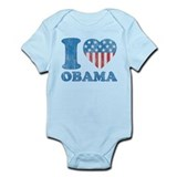 Vintage i Love Obama Infant Bodysuit
