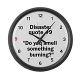 Disaster quote #9 - Large Wall Clock