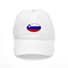 Oval Slovenian Flag Baseball Cap