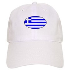 Oval Greek Flag Baseball Cap