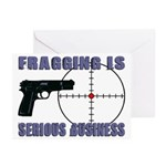 Serious Fragging Greeting Cards (Pk of 20)
