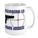 Serious Fragging Large Mug