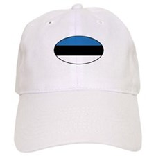 Oval Estonian Flag Baseball Cap