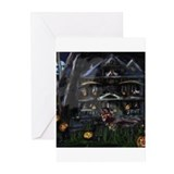 Haunted House Dachshund Greeting Cards (Package of