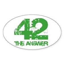 The Answer Is 42 Oval Sticker (10 pk)
