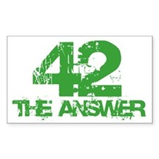 The Answer Is 42 Rectangle Sticker 10 pk)
