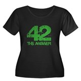 The Answer Is 42 Women's Plus Size Scoop Neck Dark