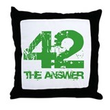 The Answer Is 42 Throw Pillow