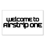 Airstrip One Rectangle Sticker 10 pk)