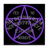 Purple Pentagram Board Tile Coaster