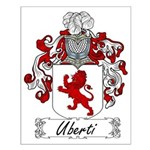 Uberti Family Crest Small Poster