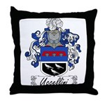 Uccellini Family Crest Throw Pillow