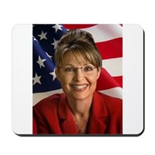 Funny Sarah palin hockey mom Mousepad