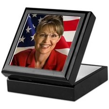 Funny Hockey mom palin Keepsake Box