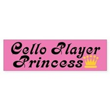 Cello Princess Bumper Car Sticker